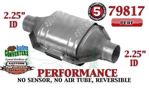 "79817 Eastern Performance Universal Catalytic Converter 2.25"" Pipe 12"" Body - Bear River Converters"