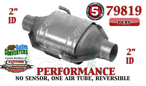 "79819 Eastern Performance Universal Catalytic Converter 2"" Pipe 12"" Body - Bear River Converters"