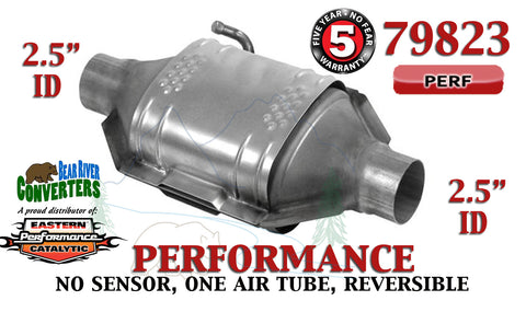 "79823 Eastern Performance Universal Catalytic Converter 2.5"" Pipe 12"" Body - Bear River Converters"