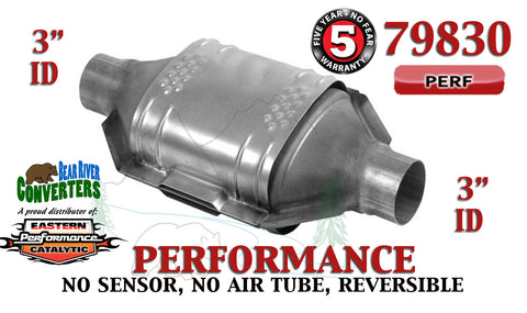 "79830 Eastern Performance Universal Catalytic Converter 3"" Pipe 12"" Body - Bear River Converters"