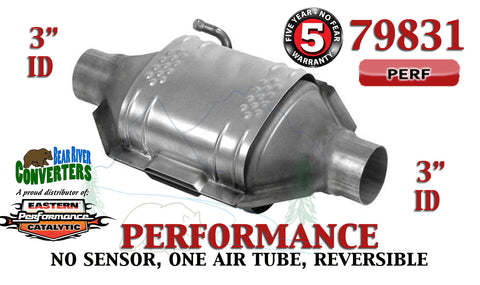 "79831 Eastern Performance Universal Catalytic Converter 3"" Pipe 12"" Body - Bear River Converters"