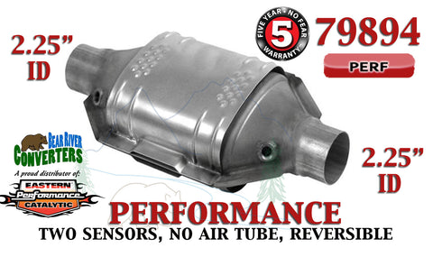 "79894 Eastern Performance Universal Catalytic Converter 2.25"" Pipe 12"" Body - Bear River Converters"