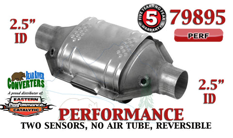 "79895 Eastern Performance Universal Catalytic Converter 2.5"" Pipe 12"" Body - Bear River Converters"