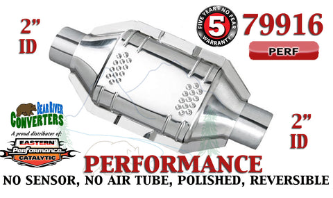 "79916 Eastern Performance Universal Catalytic Converter 2"" Pipe 12"" Body - Bear River Converters"