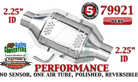 "79921 Eastern Performance Universal Catalytic Converter 2.25"" Pipe 12"" Body - Bear River Converters"