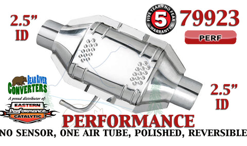 "79923 Eastern Performance Universal Catalytic Converter 2.5"" Pipe 12"" Body - Bear River Converters"