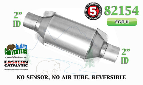 "82154 Eastern Universal Catalytic Converter ECO II Catalyst 2"" Pipe 10"" Body - Bear River Converters"