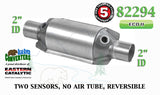 "Eastern 82294 Universal Catalytic Converter ECO II Catalyst 2"" Pipe 10"" Body"