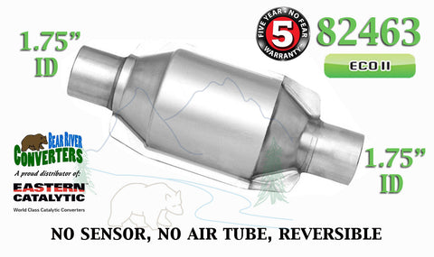 "82463 Eastern Universal Catalytic Converter ECO II 1.75"" 1 3/4"" Pipe 8"" Body - Bear River Converters"