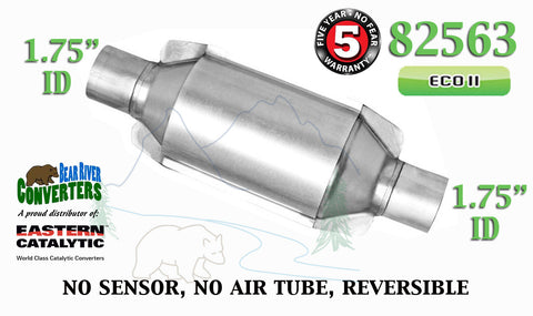 "82563 Eastern Universal Catalytic Converter ECO II 1.75"" 1 3/4"" Pipe 10"" Body - Bear River Converters"