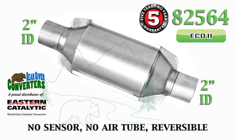 "82564 Eastern Universal Catalytic Converter ECO II Catalyst 2"" Pipe 10"" Body - Bear River Converters"