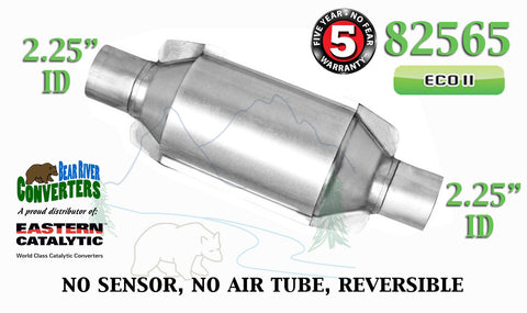 "82565 Eastern Universal Catalytic Converter ECO II 2.25"" 2 1/4"" Pipe 10"" Body - Bear River Converters"