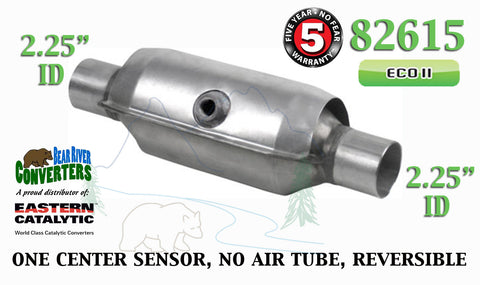 "82615 Eastern Universal Catalytic Converter ECO II 2.25"" 2 1/4"" Pipe 10"" Body - Bear River Converters"