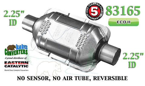 "83165 Eastern Universal Catalytic Converter ECO II 2.25"" 2 1/4"" Pipe 10"" Body - Bear River Converters"