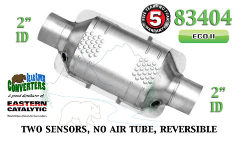 "83404 Eastern Universal Catalytic Converter ECO II Catalyst 2"" Pipe 10"" Body - Bear River Converters"