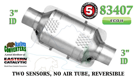 "83407 Eastern Universal Catalytic Converter ECO II Catalyst 3"" Pipe 10"" Body - Bear River Converters"