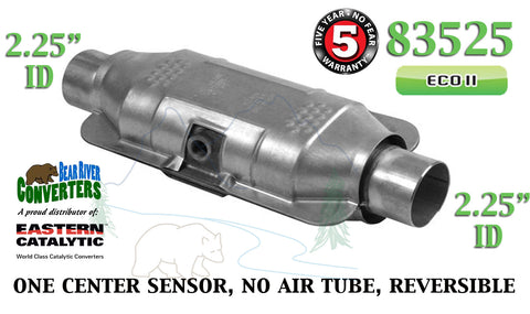 "83525 Eastern Universal Catalytic Converter ECO II 2.25"" 2 1/4"" Pipe 12"" Body - Bear River Converters"