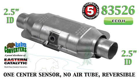 "83526 Eastern Universal Catalytic Converter ECO II 2.5"" 2 1/2"" Pipe 12"" Body - Bear River Converters"