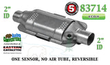 "Eastern 83714 Universal Catalytic Converter ECO II Catalyst 2"" Pipe 12"" Body"