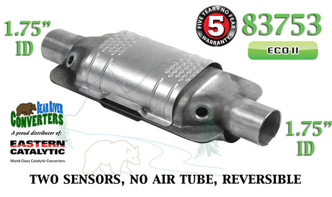 "83753 Eastern Universal Catalytic Converter ECO II 1.75"" 1 3/4"" Pipe 12"" Body - Bear River Converters"
