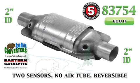 "83754 Eastern Universal Catalytic Converter ECO II Catalyst 2"" Pipe 12"" Body - Bear River Converters"