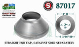 "87017 Eastern Universal Tube Catalytic Converter Straight End Cap 2"" Pipe - Bear River Converters"