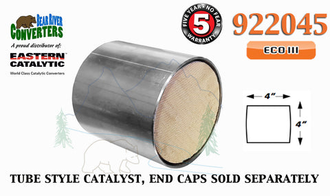 "922045 Eastern Universal Tube Canister Catalytic Converter ECO III 4"" Body - Bear River Converters"