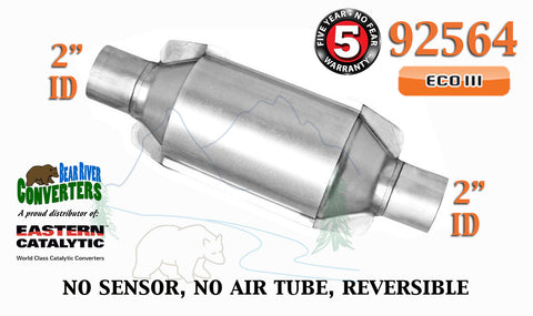 "92564 Eastern Universal Catalytic Converter ECO III Catalyst 2"" Pipe 10"" Body - Bear River Converters"