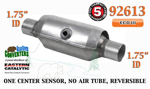 "92613 Eastern Universal Catalytic Converter ECO III 1.75"" 1 3/4"" Pipe 10"" Body - Bear River Converters"