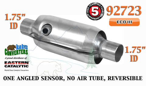 "92723 Eastern Universal Catalytic Converter ECO III 1.75"" 1 3/4"" Pipe 10"" Body - Bear River Converters"