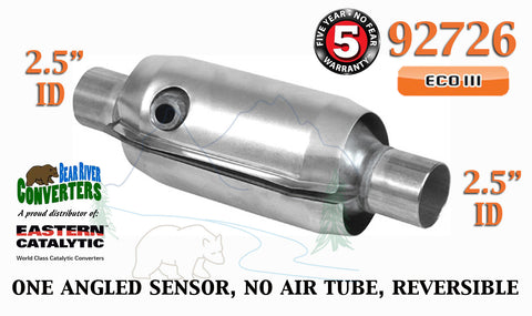 "92726 Eastern Universal Catalytic Converter ECO III 2.5"" 2 1/2"" Pipe 10"" Body - Bear River Converters"