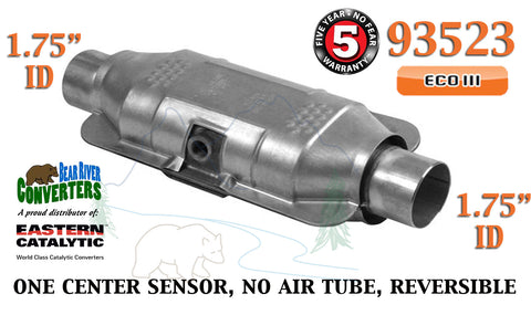 "93523 Eastern Universal Catalytic Converter ECO III 1.75"" 1 3/4"" Pipe 12"" Body - Bear River Converters"