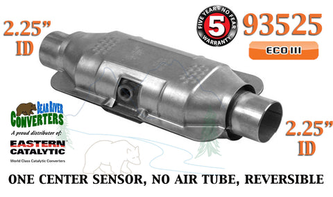 "93525 Eastern Universal Catalytic Converter ECO III 2.25"" 2 1/4"" Pipe 12"" Body - Bear River Converters"