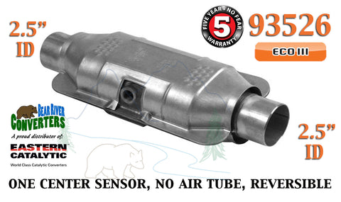 "93526 Eastern Universal Catalytic Converter ECO III 2.5"" 2 1/2"" Pipe 12"" Body - Bear River Converters"