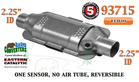 "93715 Eastern Universal Catalytic Converter ECO III 2.25"" 2 1/4"" Pipe 12"" Body - Bear River Converters"