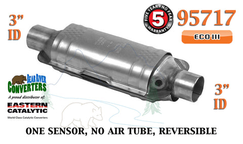 "95717 Eastern Universal Catalytic Converter ECO III Catalyst 3"" Pipe 14"" Body - Bear River Converters"