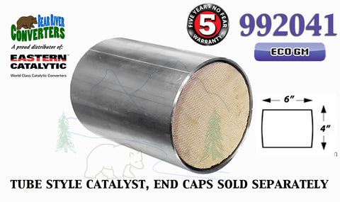 "992041 Eastern Universal Tube Canister Catalytic Converter ECO GM 6"" Body - Bear River Converters"