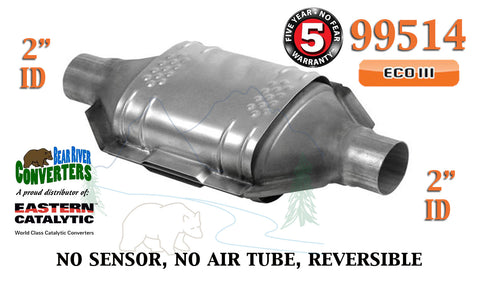 "99514 Eastern Universal Catalytic Converter ECO III 2"" Pipe 12"" Body - Bear River Converters"
