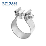 "BC178SS 1 7/8"" 1.875"" Band Exhaust Clamp Bear River Quality Stainless Steel"
