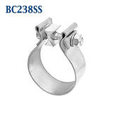 "BC238SS 2 3/8"" 2.375"" Band Exhaust Clamp Bear River Quality Stainless Steel"