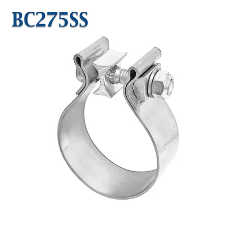 "BC275SS 2.75"" 2 3/4"" Band Exhaust Clamp Bear River Quality Stainless Steel"