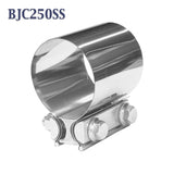 "BJC250SS 2 1/2"" 2.5"" Butt Joint Band Exhaust Clamp Bear River Quality Stainless"