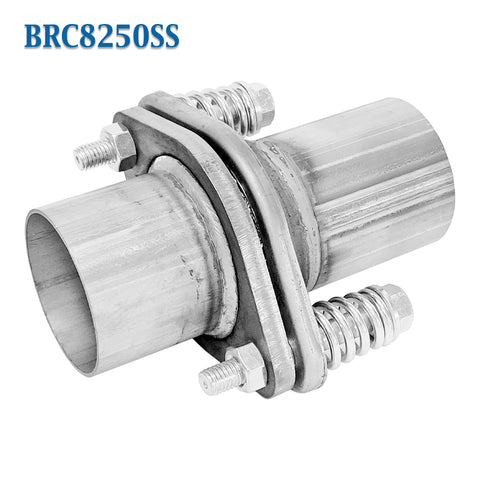 "2 1//4/"" 2.25/"" ID Stainless Exhaust Spherical Joint Spring Bolt Flange 2 Bolts"