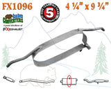 "FX1096 Muffler Strap Exhaust Repair 4 1/4"" x 9 3/4"" w/ Bracket Hanger Rods"