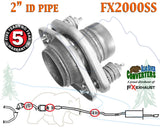 "FX2000SS 2"" ID Stainless Steel Universal Exhaust Spring Bolt Flange Repair Pipe"