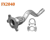 FX2040 Semi Direct Fit Exhaust Flange Repair Flex Pipe Replacement Kit With Gasket