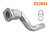 FX2041 Semi Direct Fit Exhaust Flange Repair Flex Pipe Converter Replacement Kit With Gasket