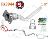FX2044 Semi Direct Fit Exhaust Flange Repair Flex Pipe Replacement Kit With Gasket - Bear River Converters