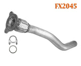 FX2045 Semi Direct Fit Exhaust Flange Repair Flex Pipe Replacement Kit With Gasket