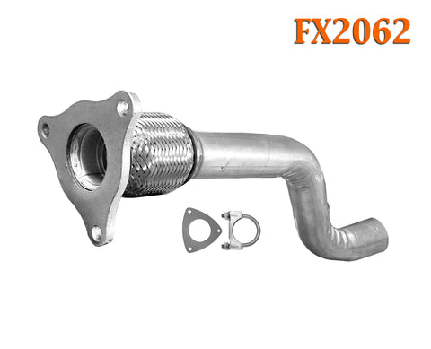 FX2062 Semi Direct Fit Exhaust Flange Repair Flex Pipe Replacement Kit With Gasket